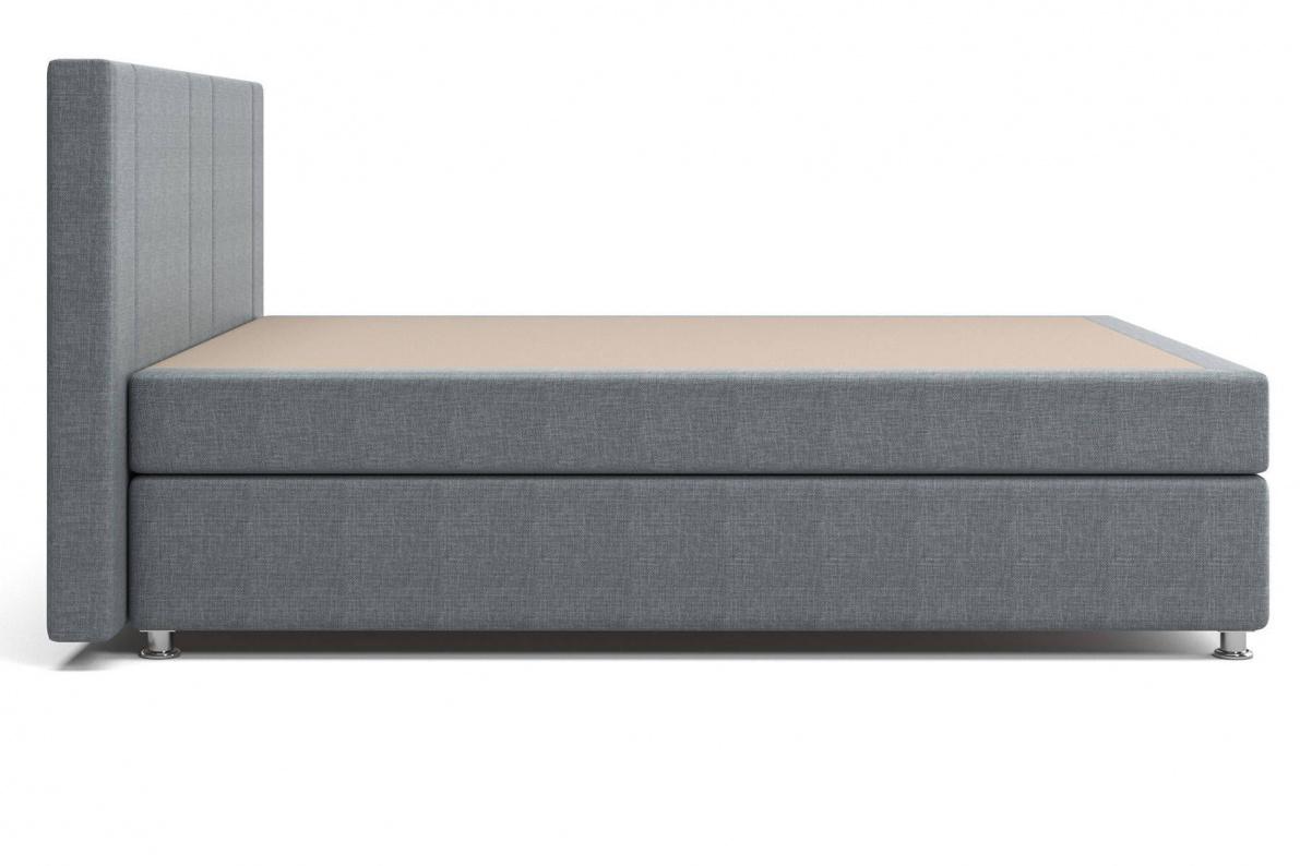 Кровать Феррара Box Spring (с матрасом) серая Арт: 2017001100273