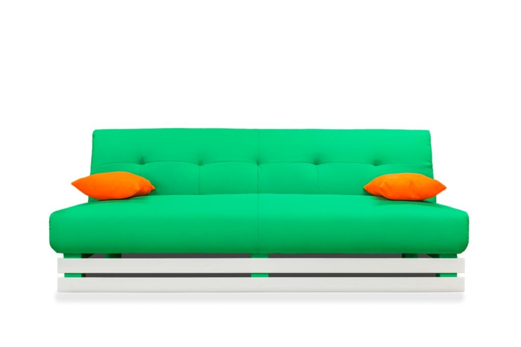Диван MANGO 1 Зеленый/оранж