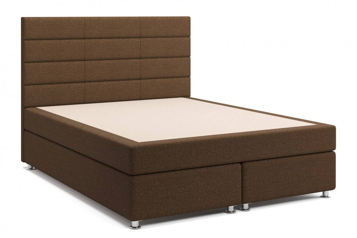 Кровать Бриз Box Spring (с матрасом) коричневая Арт: 2017003000002