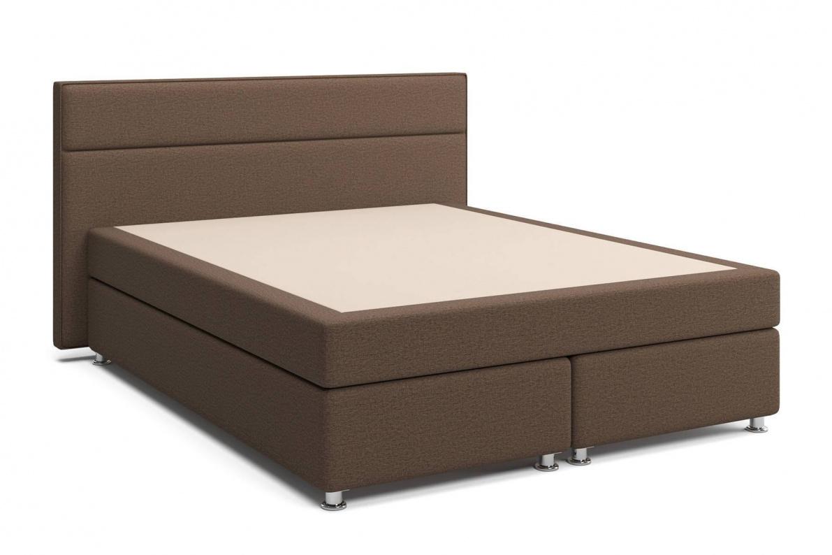 Кровать Марбелла Box Spring (с матрасом) коричневая Арт: 2017001000360