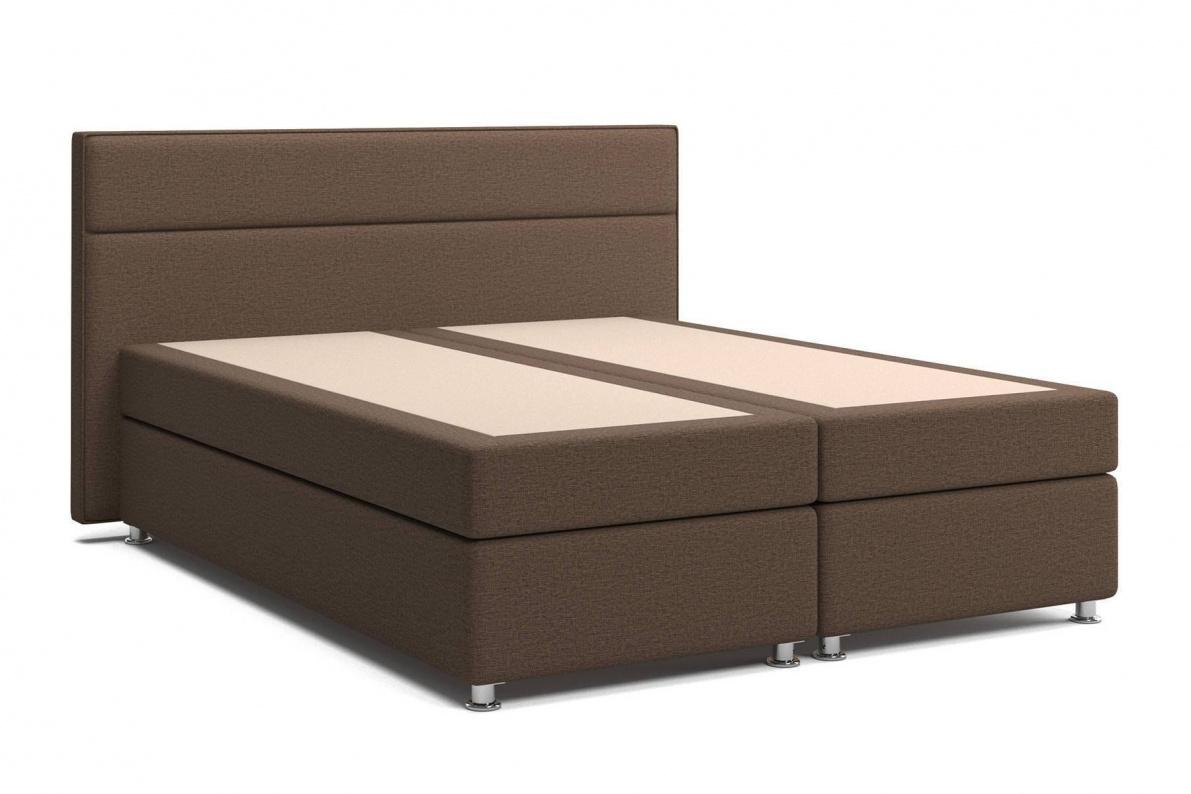 Кровать Марбелла Box Spring (с матрасом) коричневая Арт: 2017020000360