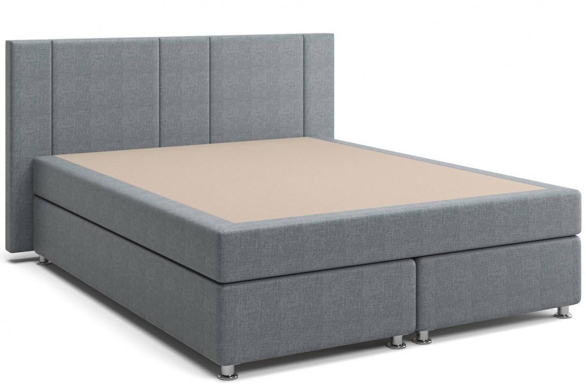 Кровать Феррара Box Spring (с матрасом) серая Арт: 2017001200273