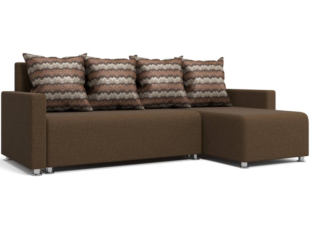 Угловой диван Челси коричневый Арт: 2017002488622