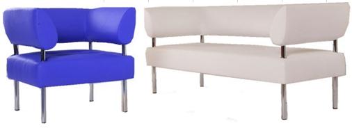 Офисный диван двухместный Статик-23 2д
