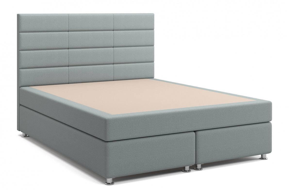 Кровать Бриз Box Spring (с матрасом) серая Арт: 2017003000160